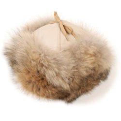 chapeau-fourrure-coyote-beige