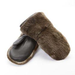 mitaines-castor-rase-brun-hiver